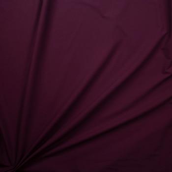 Wine Designer Stretch Midweight Poplin Fabric By The Yard - Wide shot