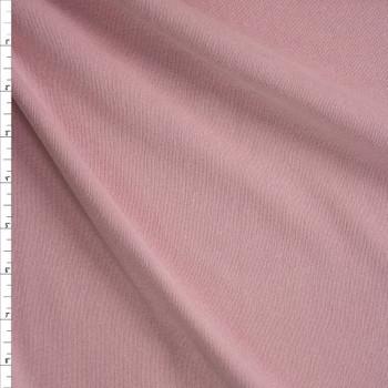 Blush Midweight Cotton Rib Knit Fabric By The Yard