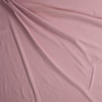 Blush Midweight Cotton Rib Knit Fabric By The Yard - Wide shot