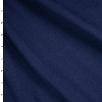 Navy Midweight Cotton Rib Knit Fabric By The Yard