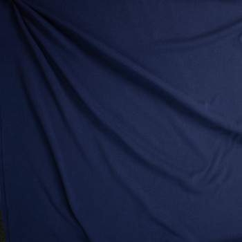 Navy Midweight Cotton Rib Knit Fabric By The Yard - Wide shot