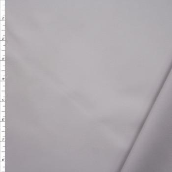 Light Grey Waxed Stretch Cotton Twill Fabric By The Yard