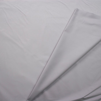 Light Grey Waxed Stretch Cotton Twill Fabric By The Yard - Wide shot