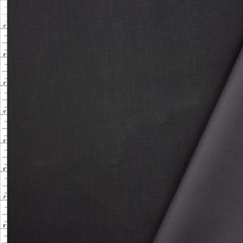 Charcoal Waxed Stretch Cotton Twill Fabric By The Yard