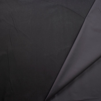 Charcoal Waxed Stretch Cotton Twill Fabric By The Yard - Wide shot
