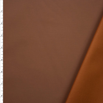Camel Waxed Stretch Cotton Twill Fabric By The Yard