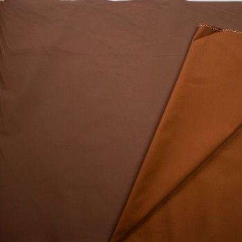 Camel Waxed Stretch Cotton Twill Fabric By The Yard - Wide shot