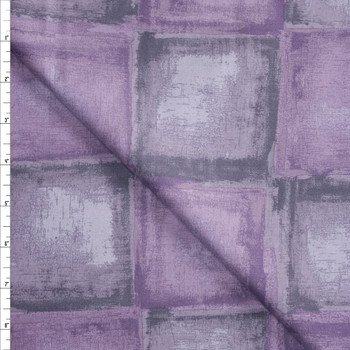 Lavender and Grey Tiles Designer Cotton Shirting from 'Tori Richards' Fabric By The Yard