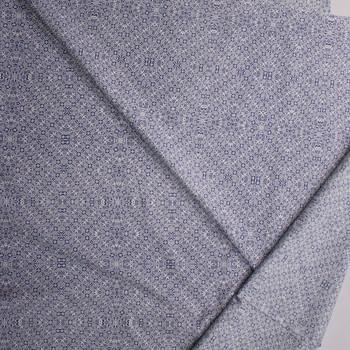 Geo Kaleidoscope Blue Designer Cotton Shirting from 'Tori Richards' Fabric By The Yard - Wide shot