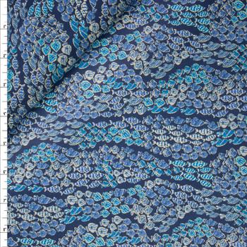 Horizontal Fish Stripes Designer Cotton Shirting from 'Tori Richards' Fabric By The Yard