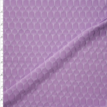 Lavender Honeycomb Textured Midweight Athletic Spandex Fabric By The Yard