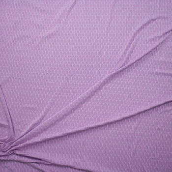 Lavender Honeycomb Textured Midweight Athletic Spandex Fabric By The Yard - Wide shot