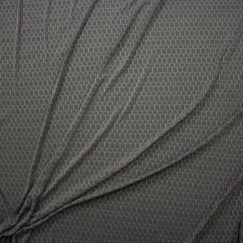Charcoal Honeycomb Textured Midweight Athletic Spandex Fabric By The Yard - Wide shot