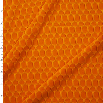 Goldenrod Honeycomb Textured Midweight Athletic Spandex Fabric By The Yard