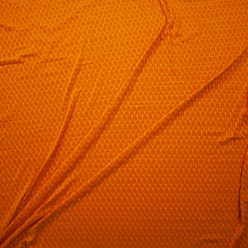 Goldenrod Honeycomb Textured Midweight Athletic Spandex Fabric By The Yard - Wide shot