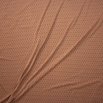 Tan Honeycomb Textured Midweight Athletic Spandex Fabric By The Yard - Wide shot