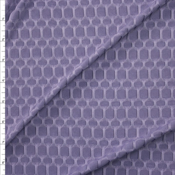 Dusty Lavender Honeycomb Textured Midweight Athletic Spandex Fabric By The Yard