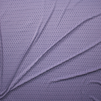 Dusty Lavender Honeycomb Textured Midweight Athletic Spandex Fabric By The Yard - Wide shot