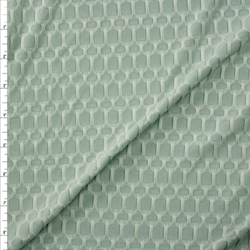 Light Sage Honeycomb Textured Midweight Athletic Spandex Fabric By The Yard