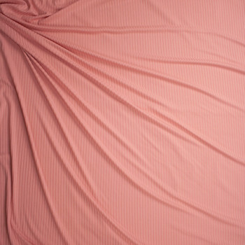 Pink Brushed Stretch Rib Knit Fabric By The Yard - Wide shot