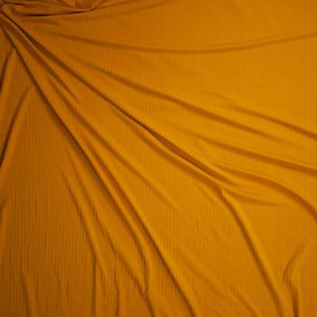 Mustard Brushed Stretch Rib Knit Fabric By The Yard - Wide shot