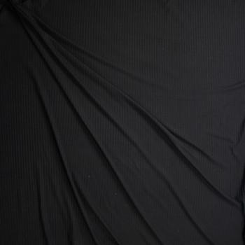 Black Brushed Stretch Rib Knit Fabric By The Yard - Wide shot