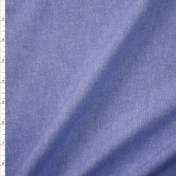 Blue Light Midweight Cotton Chambray  Fabric By The Yard