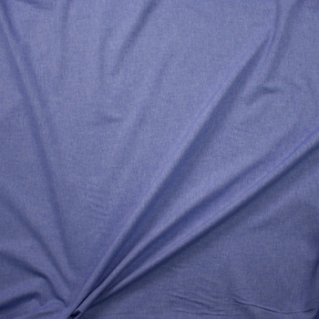 Blue Light Midweight Cotton Chambray  Fabric By The Yard - Wide shot