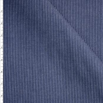 Ribbed Pinstripe 8oz Ribbed Denim Fabric By The Yard