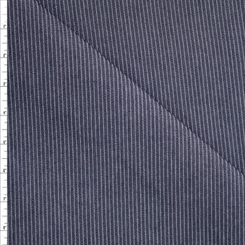 Ribbed Pinstripe 12oz Ribbed Denim Fabric By The Yard