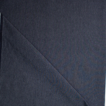 Ribbed Pinstripe 12oz Ribbed Denim Fabric By The Yard - Wide shot