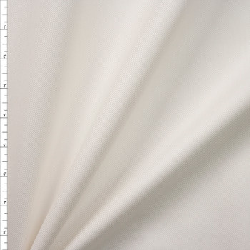 Ivory Midweight Cotton/Linen Blend Twill Fabric By The Yard