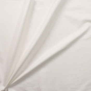 Ivory Midweight Cotton/Linen Blend Twill Fabric By The Yard - Wide shot