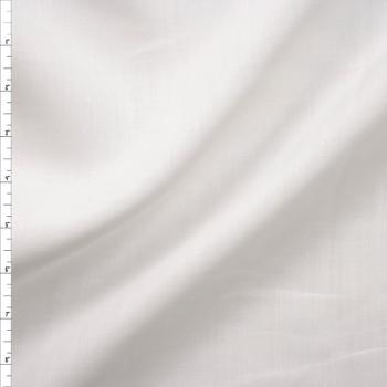 Crisp White Lightweight Linen Fabric By The Yard