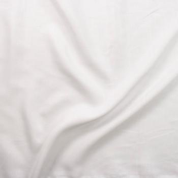 Crisp White Lightweight Linen Fabric By The Yard - Wide shot