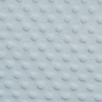Baby Blue Minky Dot Faux Fur