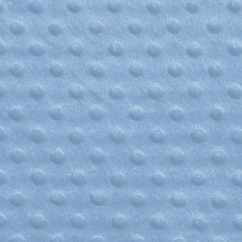 Sky Blue Minky Dot Faux Fur Fabric