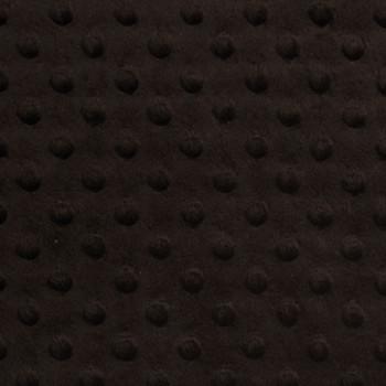 Chocolate Brown Minky Dot Faux Fur Fabric
