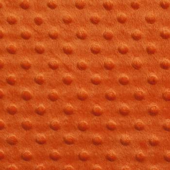 Orange Minky Dot Faux Fur Fabric