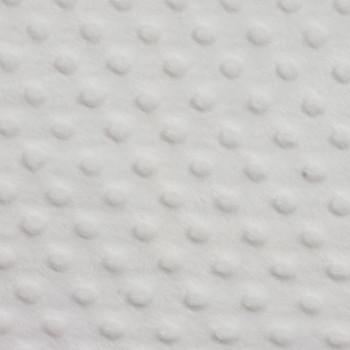 White Minky Dot Faux Fur Fabric