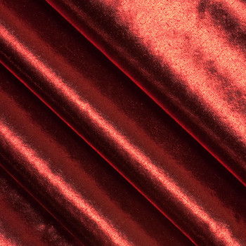 Red Tissue Lame Fabric