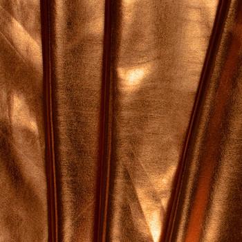 Copper Lycra Lame Fabric