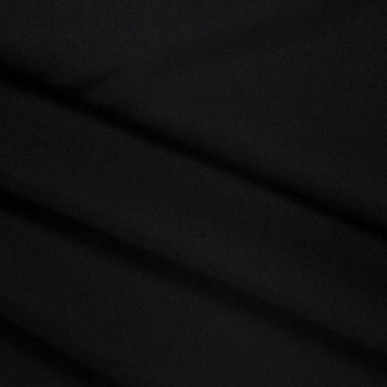 Black Polyester Poplin Fabric