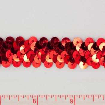 """Red .75"""" Sequin Trims"""