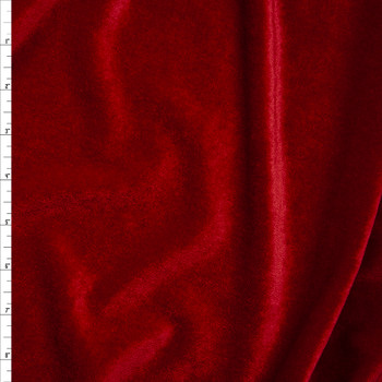Red 4-way Stretch Velvet By The Yard