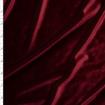 Burgundy 4-way Stretch Velvet By The Yard