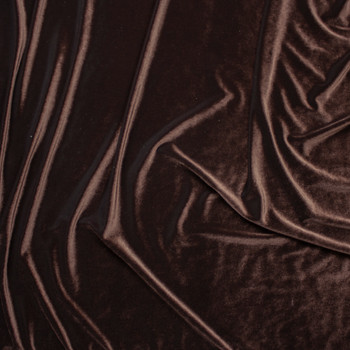 Brown 4-way Stretch Velvet By The Yard