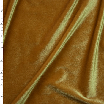 Gold 4-way Stretch Velvet By The Yard