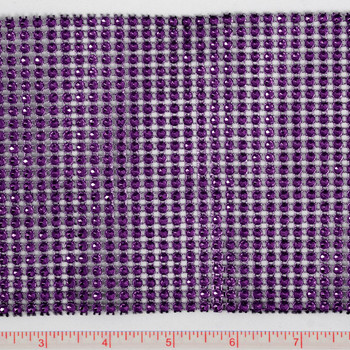 Plum Rhinestone-Look Metallic Trim