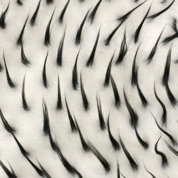 White/Black Two-tone Spike Faux Fur